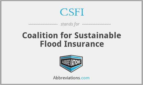 CSFI - Coalition for Sustainable Flood Insurance