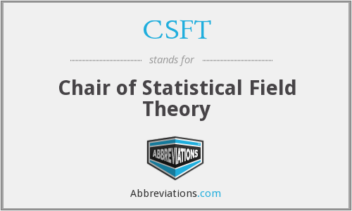 CSFT - Chair of Statistical Field Theory