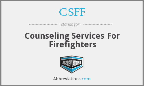 CSFF - Counseling Services For Firefighters