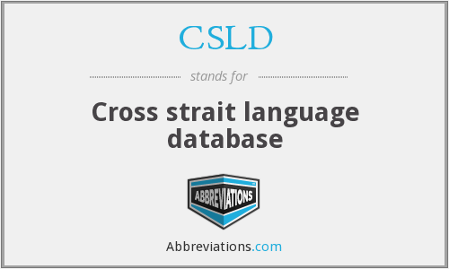 CSLD - Cross strait language database
