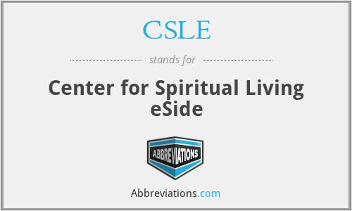 CSLE - Center for Spiritual Living eSide