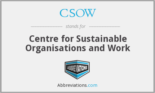 What does CSOW stand for?