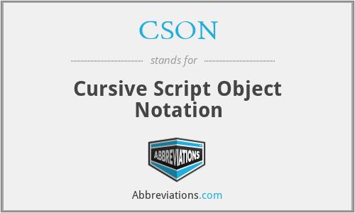 CSON - Cursive Script Object Notation