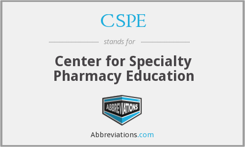 CSPE - Center for Specialty Pharmacy Education