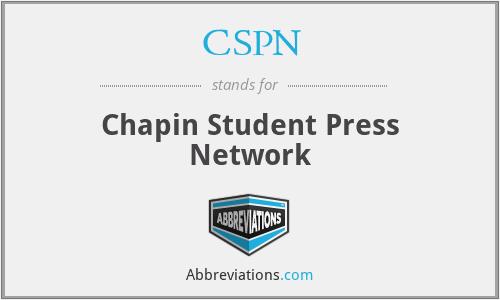 CSPN - Chapin Student Press Network