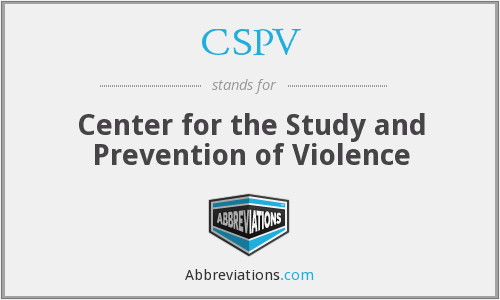 CSPV - Center for the Study and Prevention of Violence