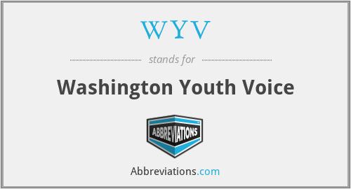 WYV - Washington Youth Voice