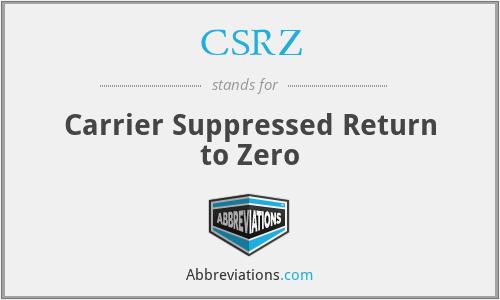 CSRZ - Carrier Suppressed Return to Zero