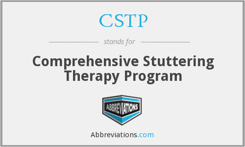 CSTP - Comprehensive Stuttering Therapy Program