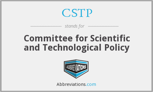 CSTP - Committee for Scientific and Technological Policy