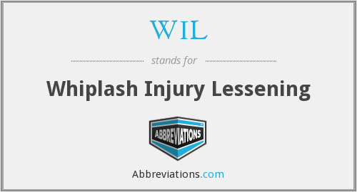 WIL - Whiplash Injury Lessening