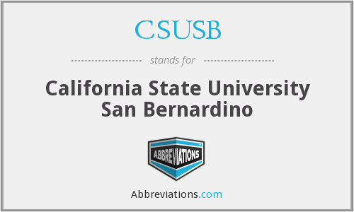 What does CSUSB stand for?