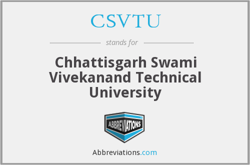 What does CSVTU stand for?