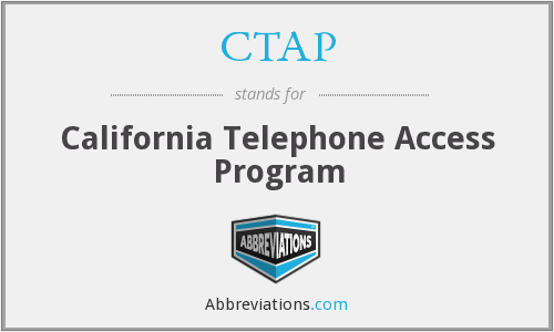 CTAP - California Telephone Access Program