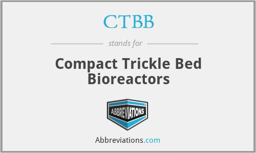 CTBB - Compact Trickle Bed Bioreactors