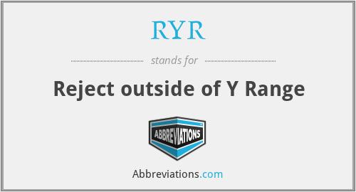 RYR - Reject outside of Y Range