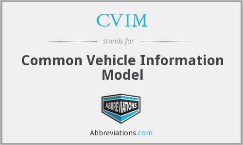 CVIM - Common Vehicle Information Model