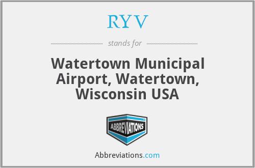 RYV - Watertown Municipal Airport, Watertown, Wisconsin USA
