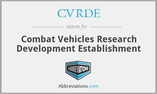 CVRDE - Combat Vehicles Research Development Establishment