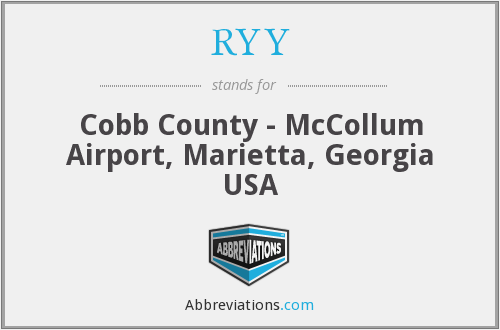 RYY - Cobb County - McCollum Airport, Marietta, Georgia USA