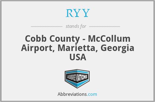 RYY - Cobb County - McCollum Airport, Marietta, Georgia USA