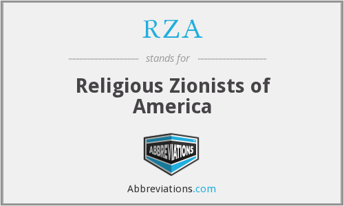RZA - Religious Zionists of America