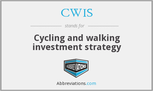 CWIS - Cycling and walking investment strategy