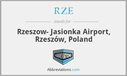RZE - Rzeszow- Jasionka Airport, Rzeszów, Poland