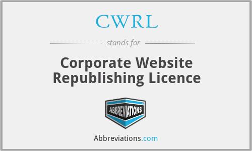 CWRL - Corporate Website Republishing Licence