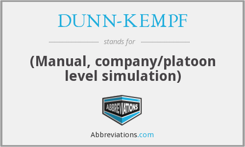 DUNN-KEMPF - (Manual, company/platoon level simulation)