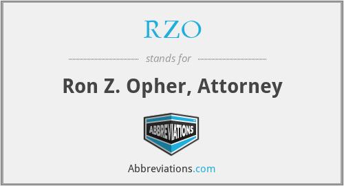 RZO - Ron Z. Opher, Attorney