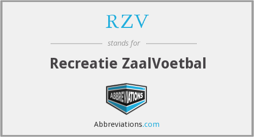 RZV - Recreatie ZaalVoetbal