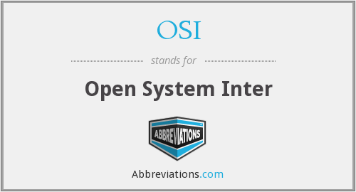 OSI - Open System Inter