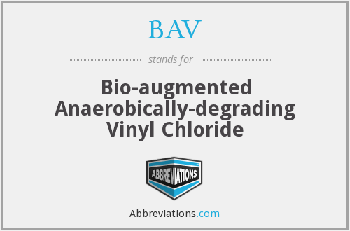BAV - Bio-augmented Anaerobically-degrading Vinyl Chloride