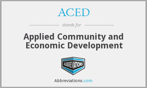 ACED - Applied Community and Economic Development