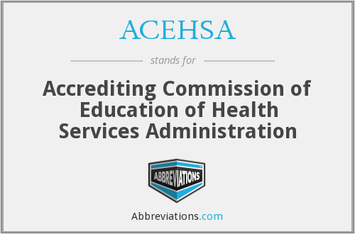 What does ACEHSA stand for?