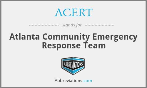 ACERT - Atlanta Community Emergency Response Team
