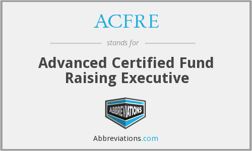 What does ACFRE stand for?