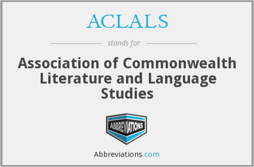 ACLALS - Association of Commonwealth Literature and Language Studies