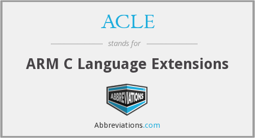 ACLE - ARM C Language Extensions