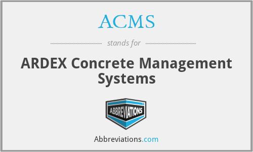 ACMS - ARDEX Concrete Management Systems