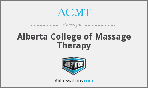 ACMT - Alberta College of Massage Therapy