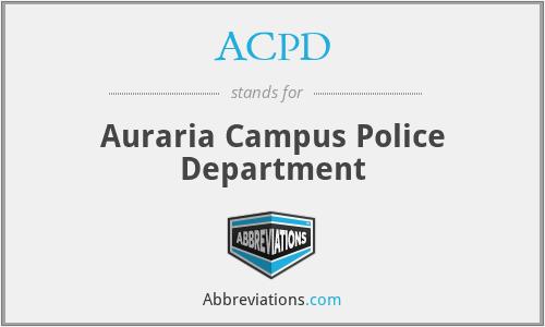 ACPD - Auraria Campus Police Department