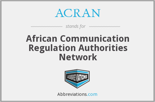 What does ACRAN stand for?