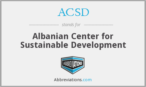 What does ACSD stand for?