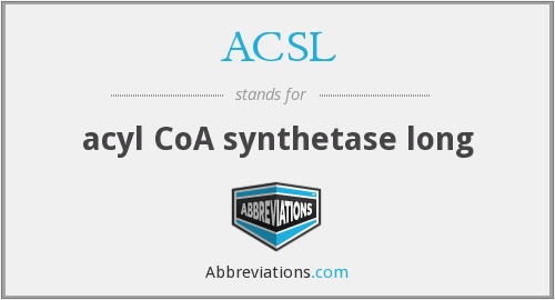 What does ACSL stand for?