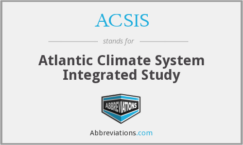 ACSIS - Atlantic Climate System Integrated Study