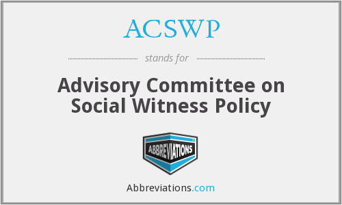 What does ACSWP stand for?