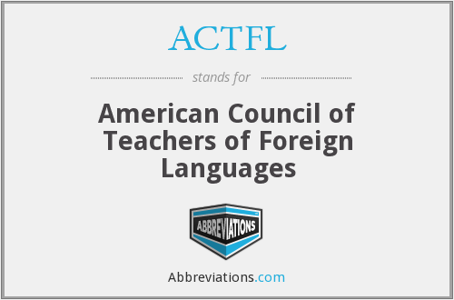 What does ACTFL stand for?