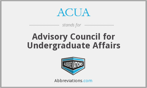 What does ACUA stand for?